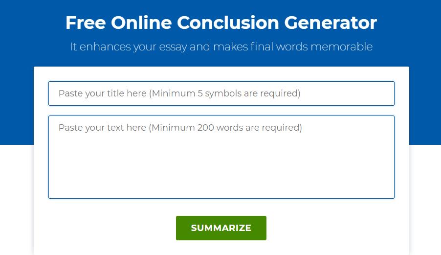 screenshot of grades fixer conclusion builder